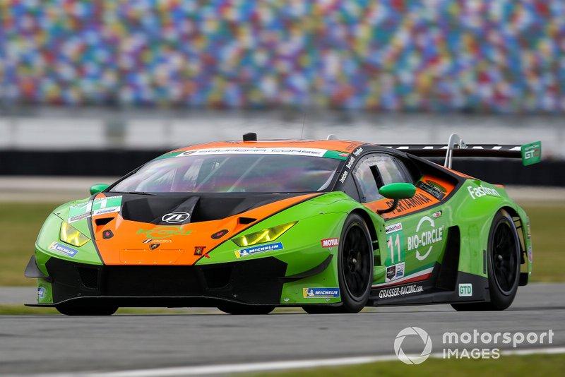 #11 GRT Grasser Racing Team Lamborghini Huracan GT3, GTD: Mirko Bortolotti, Christian Engelhart, Rolf Ineichen, Rik Breukers