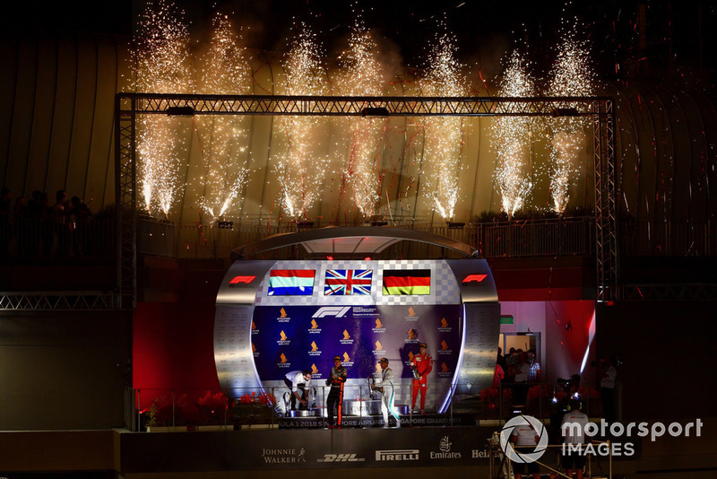 The Singapore GP podium