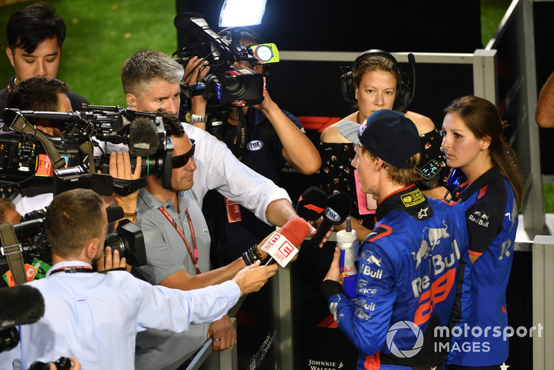 Brendon Hartley, Scuderia Toro Rosso, parla con i media