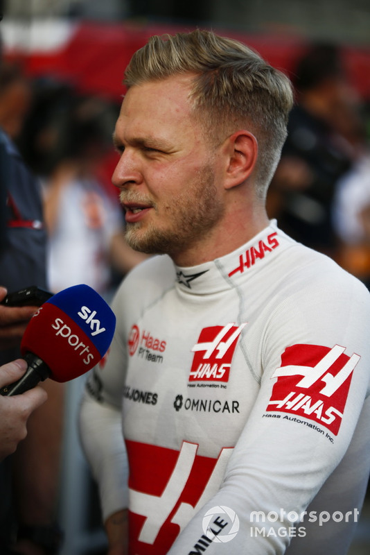Kevin Magnussen, Haas F1 Team, is interviewed on Sky Sports
