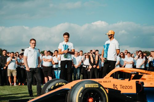 Selebrasi Kemenangan McLaren