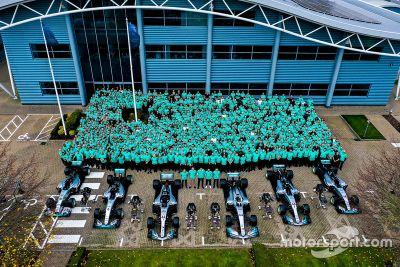 Mercedes AMG 6th title celebration