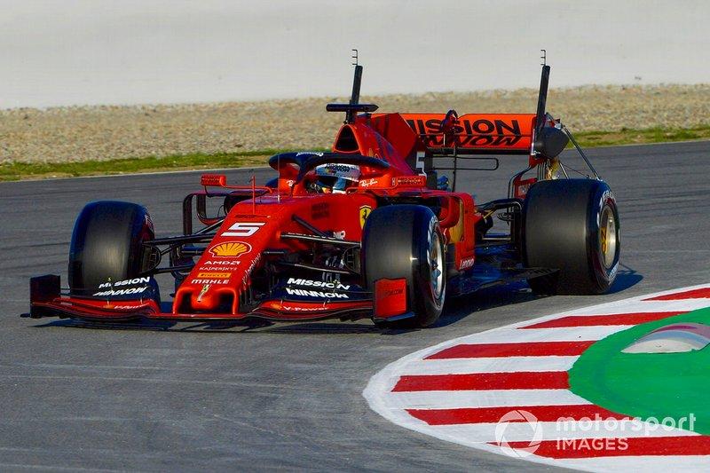 Sebastian Vettel, Ferrari SF90, carries sensor equipment