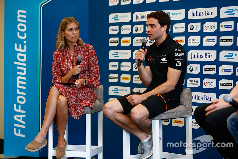 Nicki Shields and Jérôme d'Ambrosio, Dragon Racing, en conferencia de prensa