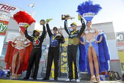 Top Fuel winner Antron Brown, Funny Car winner Tommy Johnson Jr., Pro Stock winner Tanner Gray