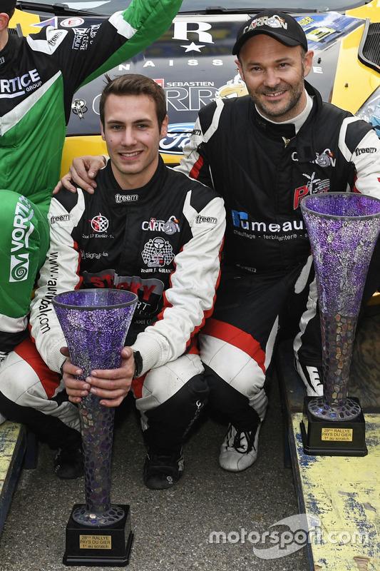 Sébastian Carron, Vincent Landais, Ford Fiesta R5, D-MAX Swiss, Team Balbosca, podium