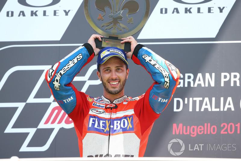 Подіум: переможець гонки Андреа Довіціозо, Ducati Team