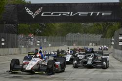 Ed Jones, Dale Coyne Racing Honda, Josef Newgarden, Team Penske Chevrolet