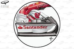 Ferrari SF70H: Nase und Frontflügel, GP Großbritannien