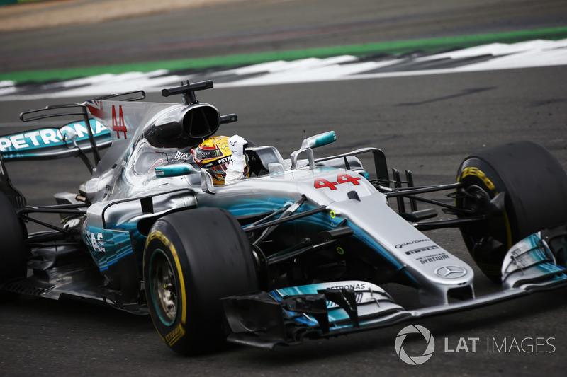 Ganador de la carrera Lewis Hamilton, Mercedes AMG F1 W08