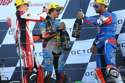 Podium: race winner Takaaki Nakagami, Idemitsu Honda Team Asia, second place Mattia Pasini, Italtrans Racing Team, third place Franco Morbidelli, Marc VDS
