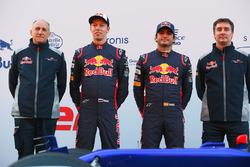 Teamchef Franz Tost, Daniil Kvyat, Carlos Sainz Jr., Technikchef James Key