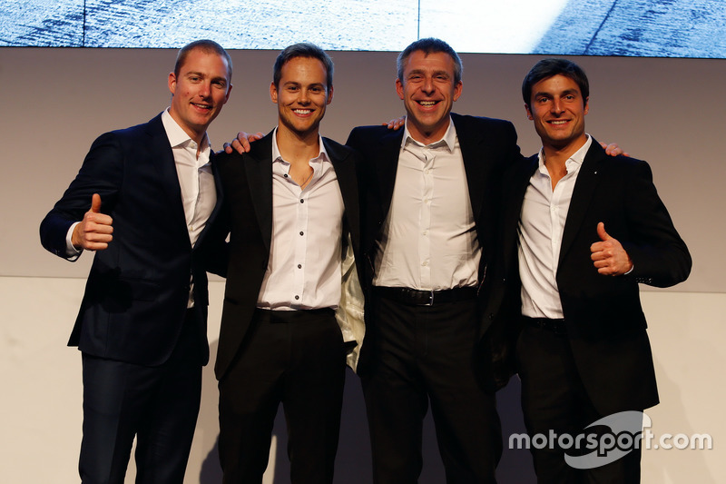Maxime Martin; Tom Blomqvist; Bart Mampaey Team Principal BMW RBM and Bruno Spengler
