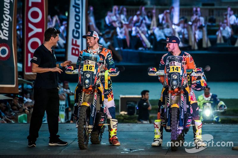 #16 Red Bull KTM Factory Racing: Matthias Walkner and #14 Red Bull KTM Factory Racing: Sam Sunderland