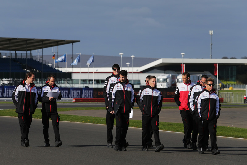 TOYOTA GAZOO Racing during track walk