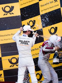 Podium: Maro Engel, Mercedes-AMG Team HWA, Mercedes-AMG C63 DTM en Mattias Ekström, Audi Sport Team