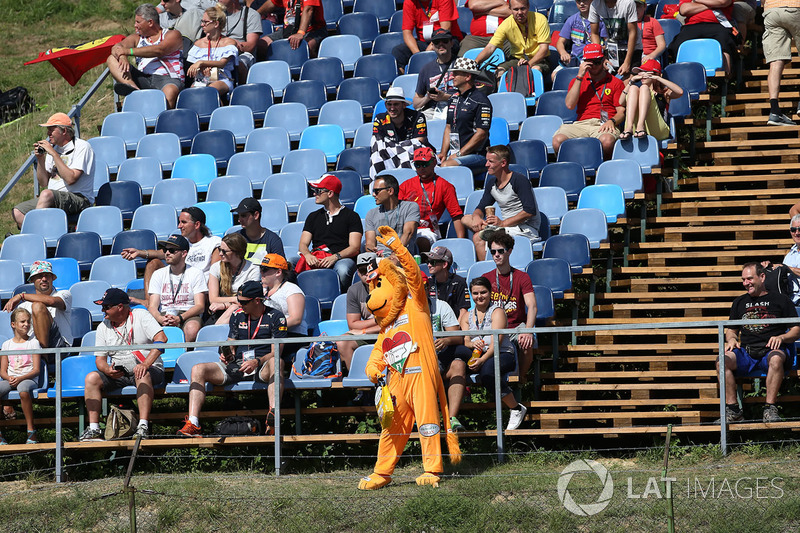Уболівальник у костюмі лева