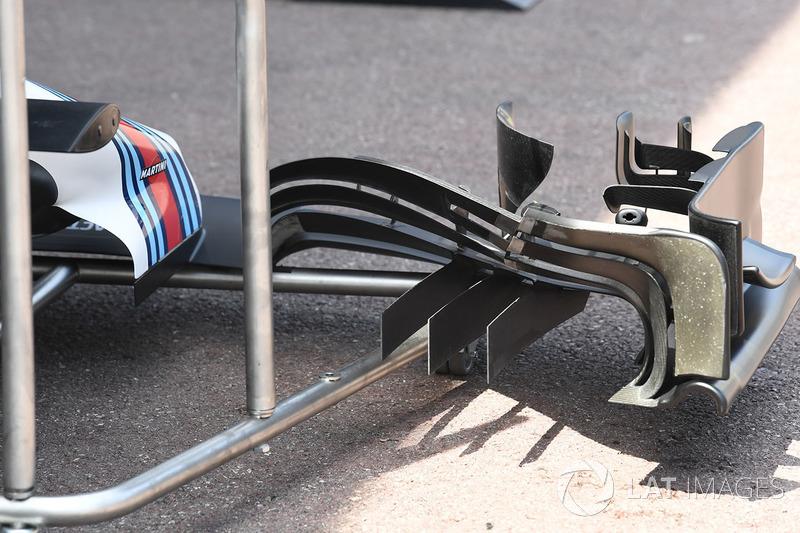 Williams FW40, detalle del alerón delantero