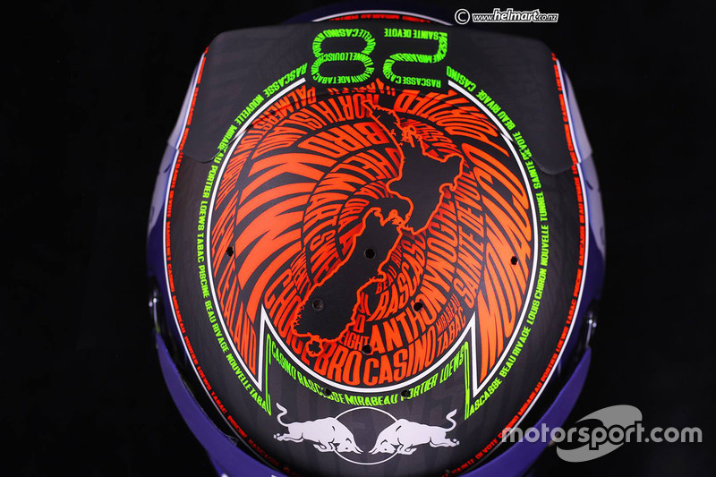 Le casque de Brendon Hartley, Toro Rosso pour Monaco