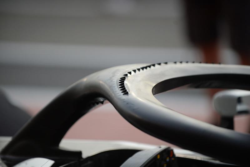 Detalle del Halo del Haas F1 Team VF-18