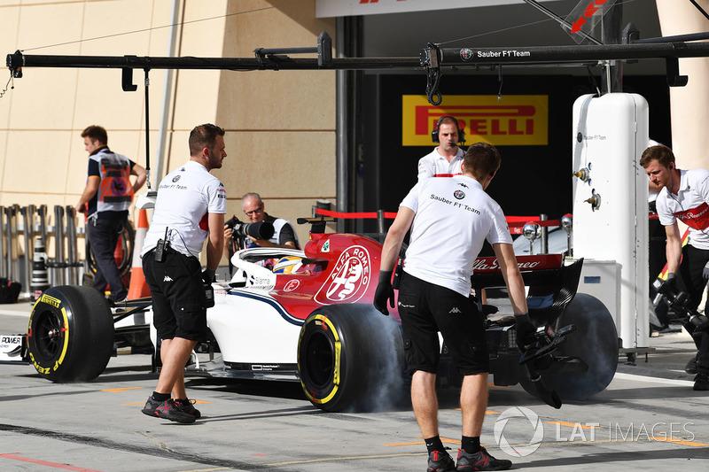 Marcus Ericsson, Sauber C37 burnout