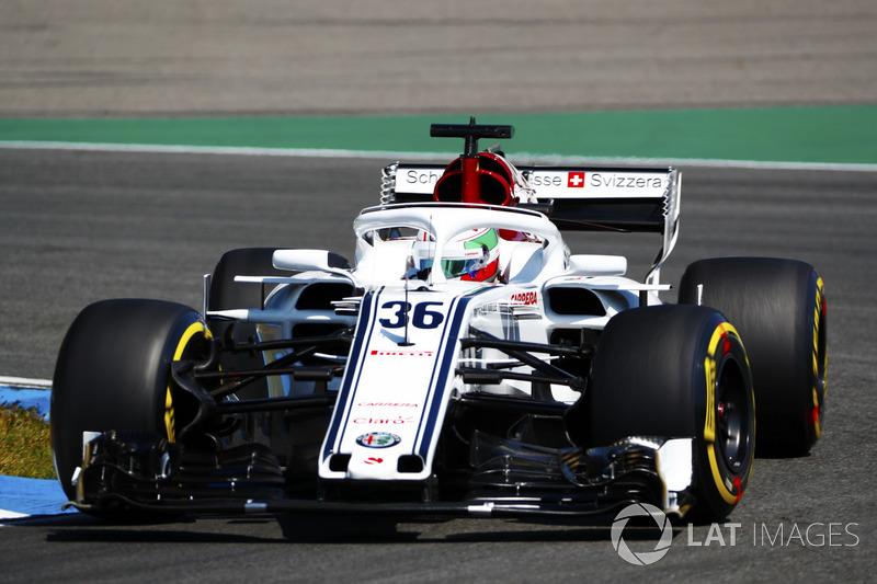 Antonio Giovinazzi, Sauber C37, in FP1