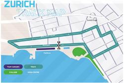 Zurich ePrix circuit layout