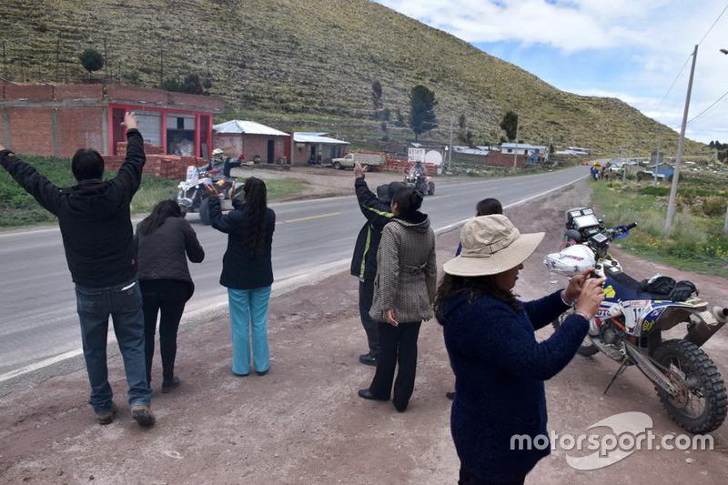 Aficionado en la etapa de Arequipa a La Paz