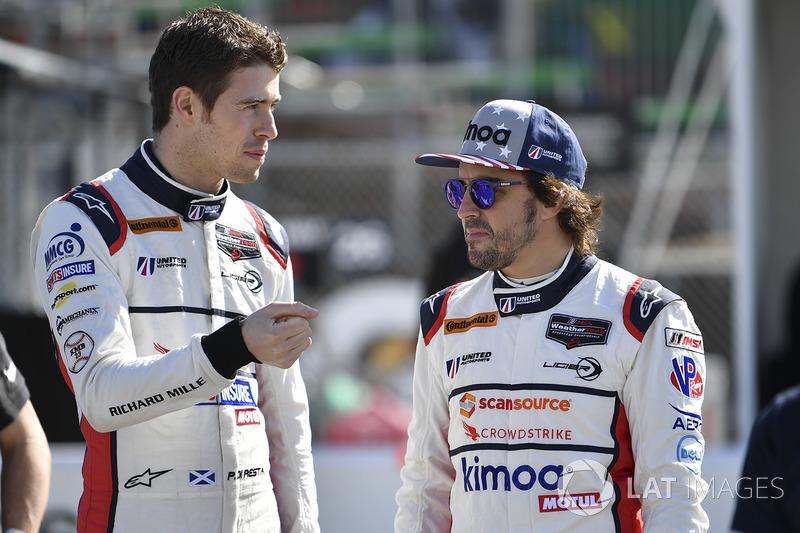 Paul di Resta, Fernando Alonso, United Autosports