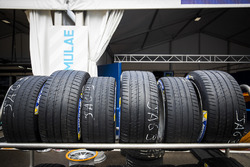 Michelin tyres in the pit lane