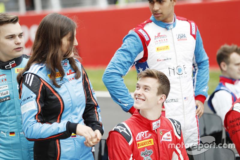 Tatiana Calderon, Jenzer Motorsport  y Callum Ilott, ART Grand Prix