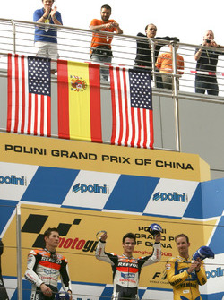 Podium: 1. Dani Pedrosa, 2. Nicky Hayden, 3. Colin Edwards