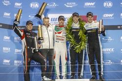 Podium: Worldchampion, Thed Björk, Polestar Cyan Racing, Volvo S60 Polestar TC1, Race winner Esteban