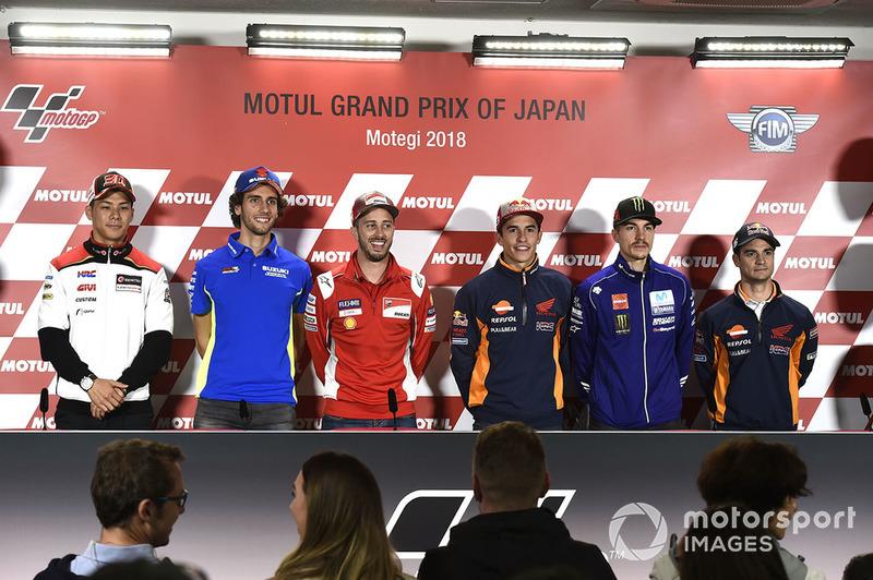 Takaaki Nakagami, Team LCR Honda, Alex Rins, Team Suzuki MotoGP, Andrea Dovizioso, Ducati Team, Marc Marquez, Repsol Honda Team, Maverick Viñales, Yamaha Factory Racing, Dani Pedrosa, Repsol Honda Team