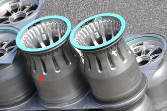 Mercedes F1 AMG, dettagli dei cerchi