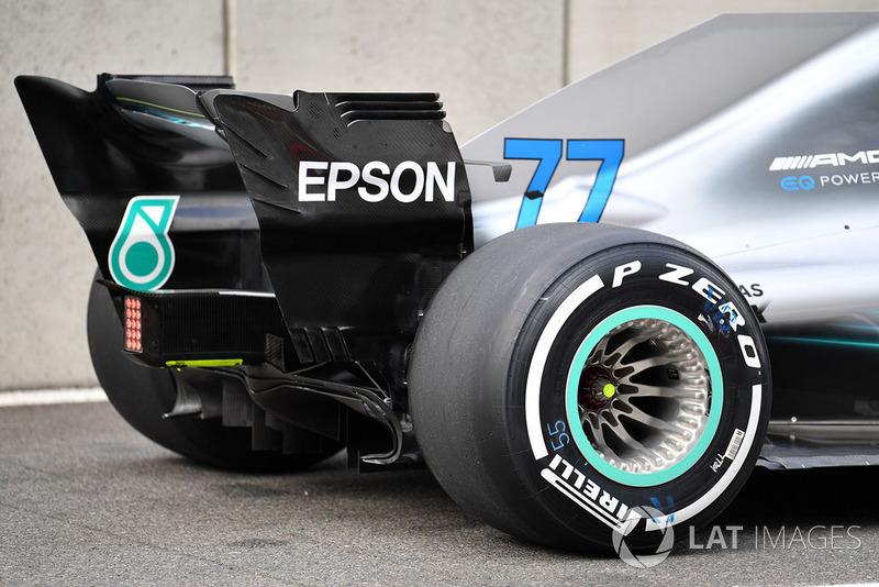 Valtteri Bottas, Mercedes AMG F1 W09 rear wing