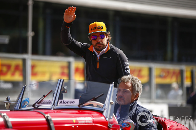 FBelga Nagydíj - versenyzői felvonulás - F1 2018