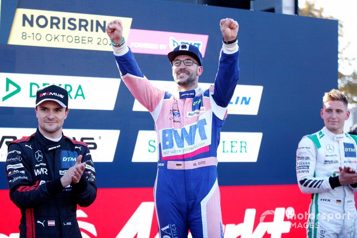 Podium: Race winner and Champion Maximilian Götz, Haupt Racing Team