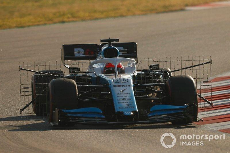 Robert Kubica, Williams FW42, avec des capteurs aéro