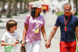 David Coulthard, Commentator, Channel 4 F1, with his family