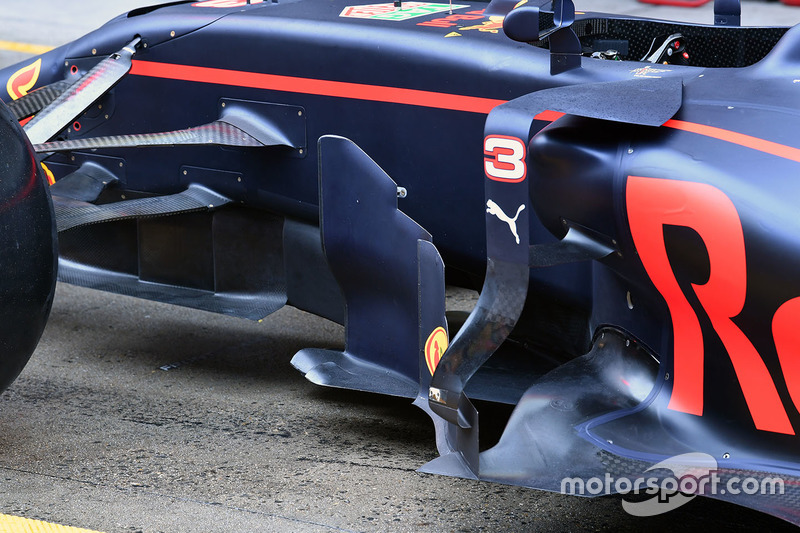 Detalle del sidepod Red Bull Racing RB13