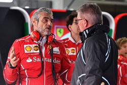 Maurizio Arrivabene, Team Principal Ferrari e Ross Brawn, Managing Director delf Motorsport Formula One