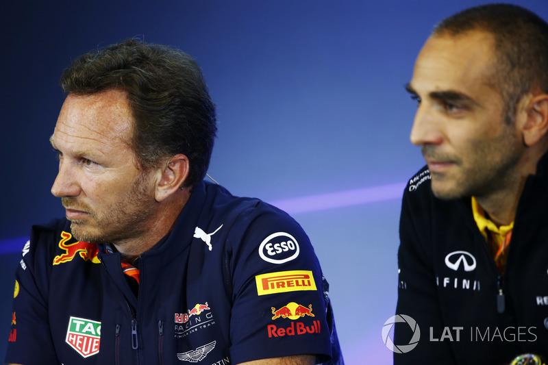 Christian Horner, Team Principal, Red Bull Racing, Cyril Abiteboul, Managing Director, Renault Sport