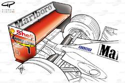 Ferrari F2001 (652) 2001 rear wing