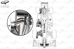 McLaren MP4/29 top view and rear suspension design