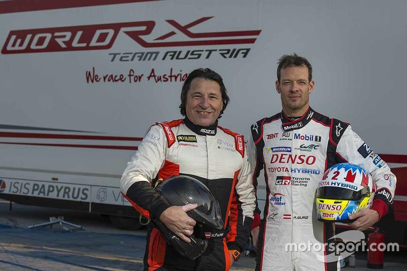 Max Pucher, Alexander Wurz antes de las pruebas del World RX Team Austria Ford Fiesta