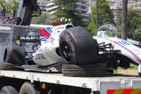 El coche chocado de Lance Stroll, Williams FW40
