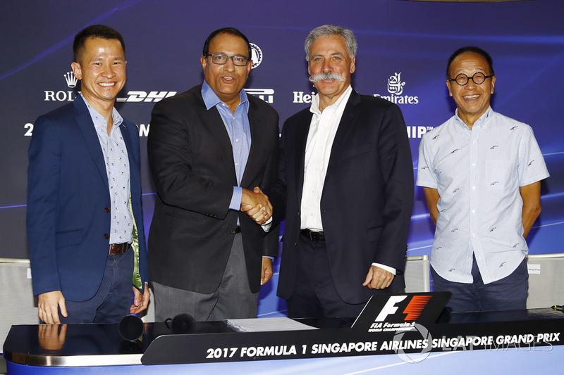 Pressekonferenz: Lionel Yeo, Geschäftsführer Tourismus, Singapur, S. Iswaran, Minister für Handel un