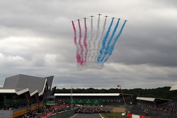 Red Arrows flypast over the grid