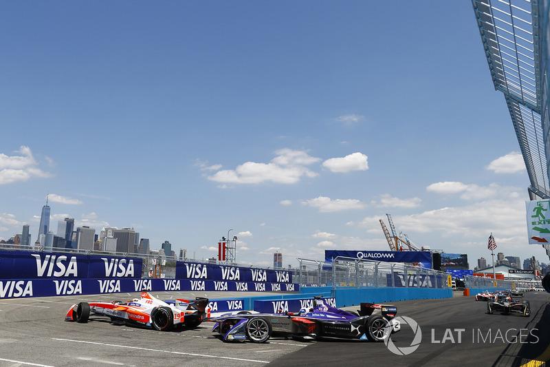 Felix Rosenqvist, Mahindra Racing, y Sam Bird, DS Virgin Racing